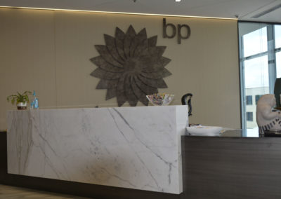 British Petroleum HQ Welcome Desk