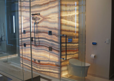 Private Residence Stone Shower